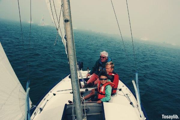 sailing boat grandsons ocean