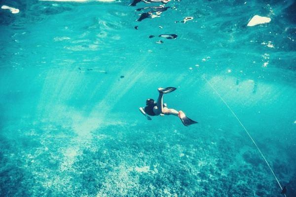 man-free-diving-fish-ocean-instagram-captions
