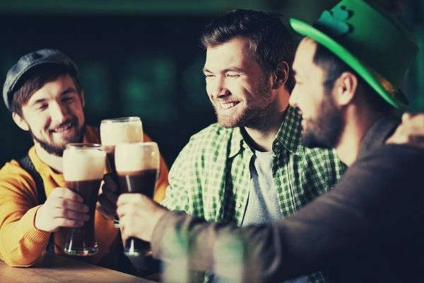 man-in-green-and-white-plaid-button-up-shirt-holding-drinking-glass-drinking-with-friends-beer-instagram-captions