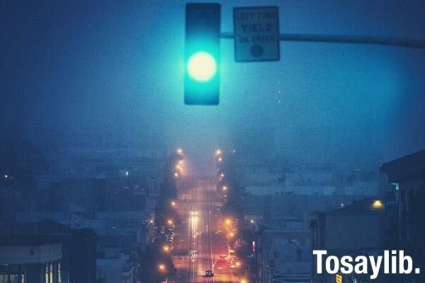 traffic light photo blue color