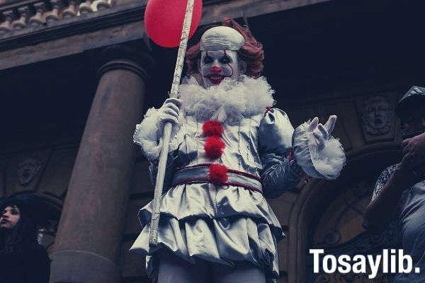 photo man wearing it clown costume clown laughter