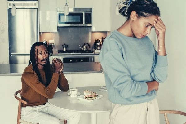 black-couple-having-conflict-at-kitchen-fight-words-to-describe-bad-relationship