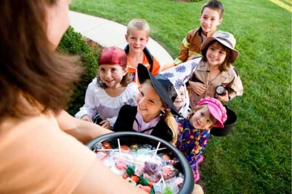 halloween group kids want candy